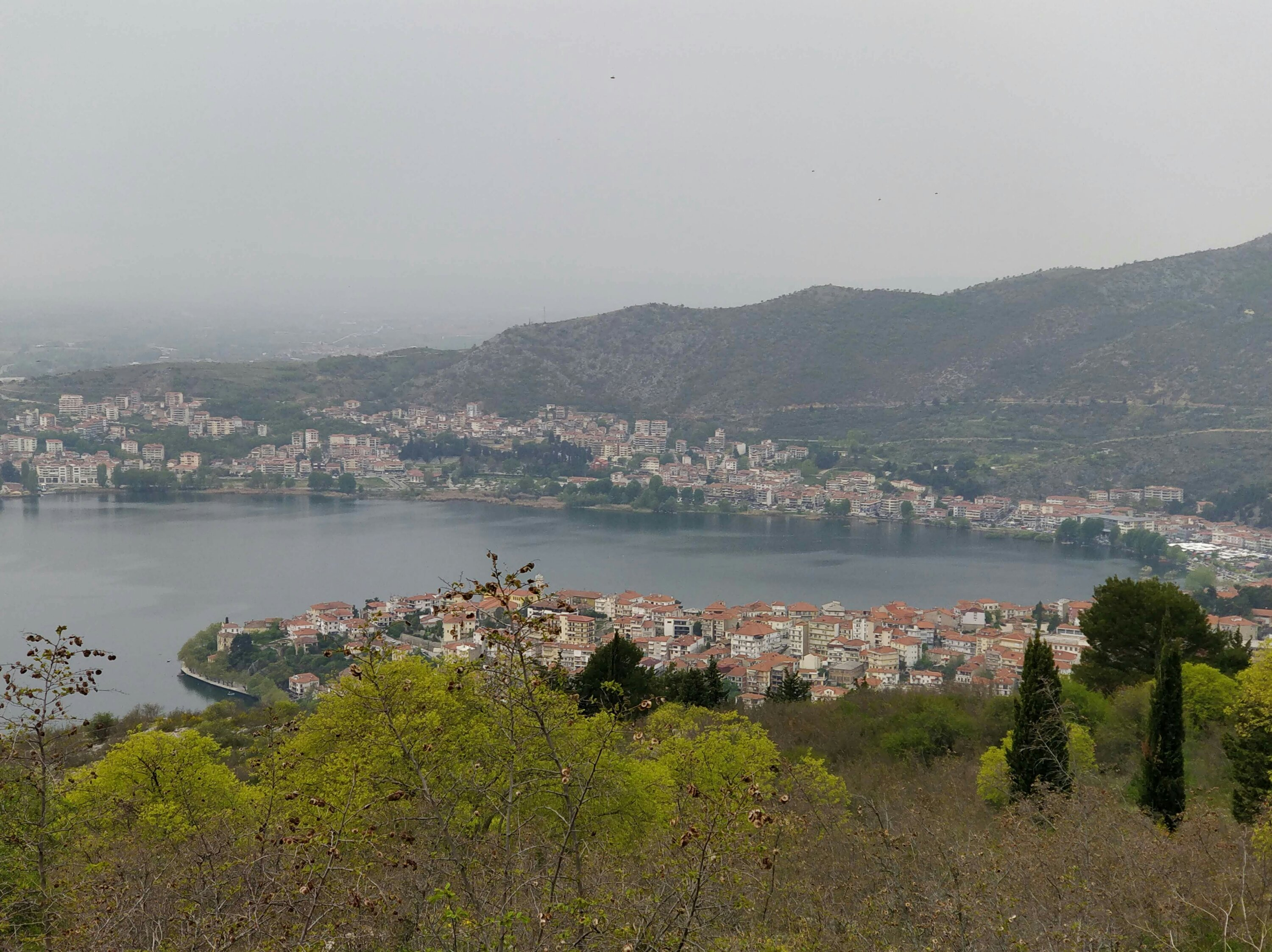 The city of Kastoria in Northern Greece, photograph taken from the hill of Profitis Ilias