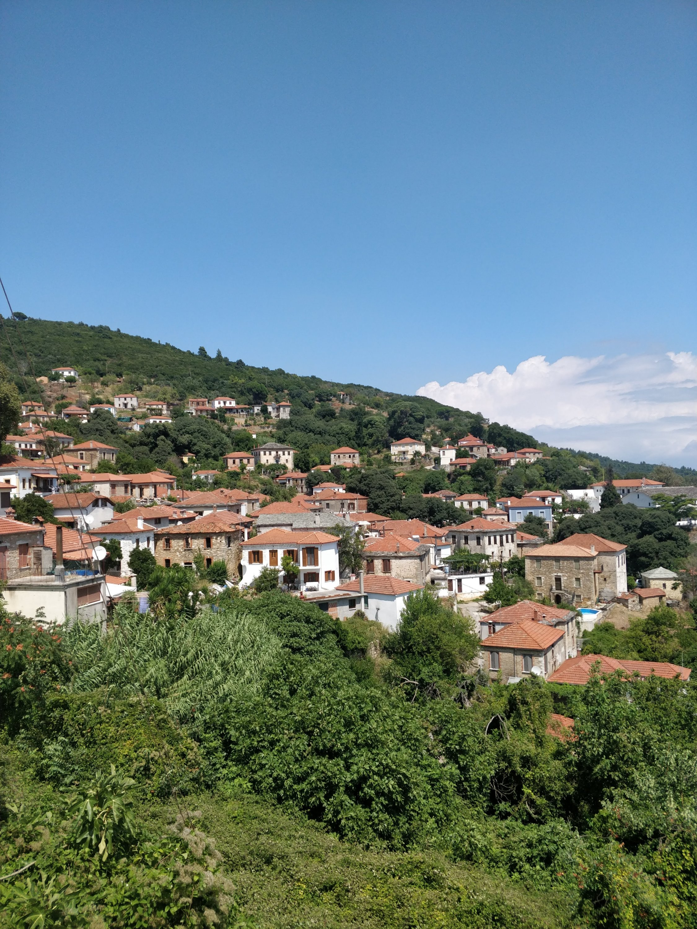 A panoramic picture of the village of Promyri in southern Pelion, Central Greece.