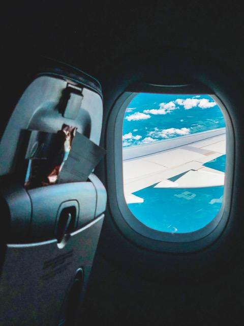 θέα από αεροπλάνο ταξίδι